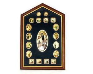 Leilão de Registo Religioso banhado a OURO (Arte-Sacra)