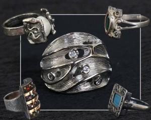Leilão de Anéis em Prata