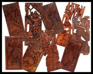 Leilão Online de Quadros em Madeira Esculpida