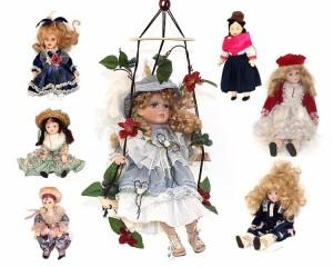 Leilão Online de Bonecas Antigas em Porcelana