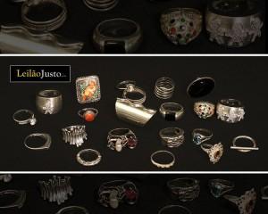 Leilão Online de Anéis em Prata de Abril 2016