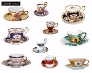 Leilão Online de Chávenas em Porcelana