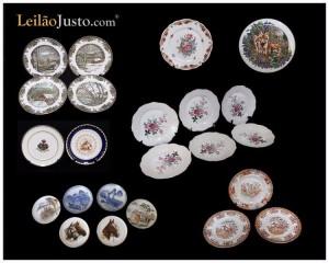 Leilão Online de Pratos em Porcelana (Vista Alegre, Spal, Macau...)