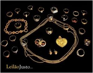Leilão Online de Anéis em Ouro e Pedras Preciosas Junho 2016