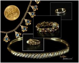 Leilão Online Especial Jóias em Ouro e Pedras Preciosas