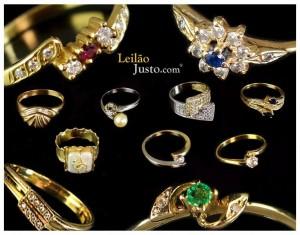 Leilão Online Especial de Anéis em Ouro