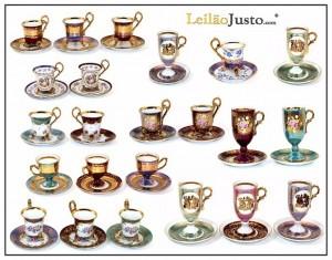 Leilão Online de Chávenas de Colecção em Porcelana