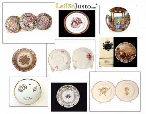 Leilão Online de Pratos em Porcelana
