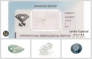 Leilão Online de Pedras Preciosas Julho 2019