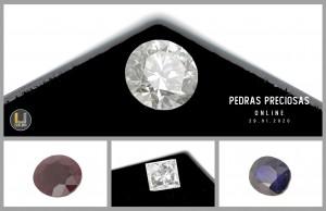 Leilão Online de Pedras Preciosas 29Jan2020