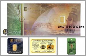 Leilão Online de Lingotes de Ouro Fino 999.9