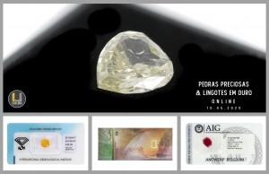 Leilão Online de Pedras Preciosas e Lingotes em Ouro de Maio 2020