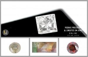 Leilão Online de Pedras Preciosas e Lingotes em Ouro de Junho 2020