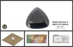 Leilão Online de Pedras Preciosas e Lingotes em Ouro 09nov20