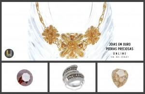 Leilão Online Joias em Ouro & Pedras Preciosas Jan 2021
