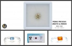 Leilão Online de Pedras Preciosas * Moedas & Lingotes em Ouro 21Fev21