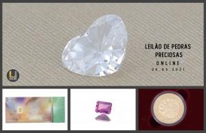 Leilão Online de Pedras Preciosas Maio 2021