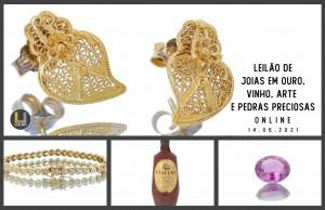 Leilão Online Joias em Ouro Vinho e Arte e Pedras Preciosas Junho 2021