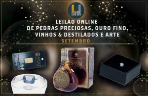 Leilão Online de Pedras Preciosas_Ouro Fino_Vinhos & Destilados_Arte de SETEMBRO 2021