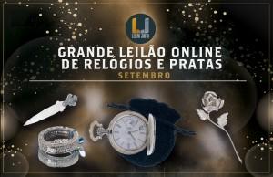 Grande Leilão Online de RELÓGIOS e PRATAS Setembro 2021