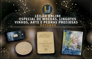 Leilão Online Especial MOEDAS, LINGOTES, VINHOS, ARTE e PEDRAS PRECIOSAS - Outubro 2021