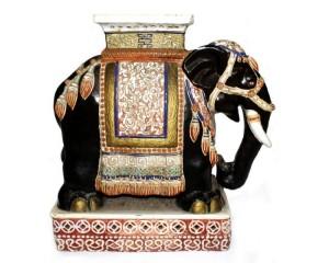 Grandiosa Escultura Asiática de Elefante